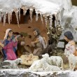 Snowy Christmas Crib - Stock Photo