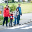 Family will passing the Crosswalk — Stock Photo #16919483