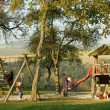 Playground in idyllic ambience — Stock Photo #17362345
