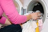 Woman filling Washing Machine — Foto de Stock