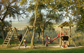 Playground in an idyllic ambience — Stock Photo
