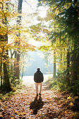 Man in the Forest — Stock Photo