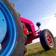 Red and Blue Tractor — Stock Photo