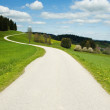 Crooked road in the country - Stock Photo