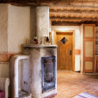 Rural Room with Chimney — Stock Photo