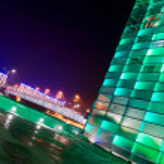 Green shiny Building in Austria — Stock Photo #18302547