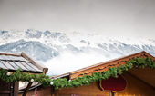 Christmas Market in the Alps — Stock Photo