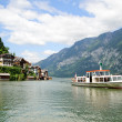 Stock Photo: Ship on Hallstatt Lake