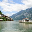 Ship on the Hallstatt Lake — 图库照片