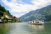 Ship on the Hallstatt Lake — Stock Photo