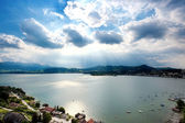 View over an Austrian Lake — Stock Photo