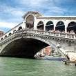 Famous Rialto Bridge — Stock Photo