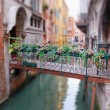 Romantic Bridge in Venice — Stock Photo