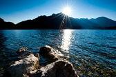 Late Sun over Lake — Stock Photo