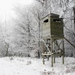 Hunting Tower in Winter — Stock Photo