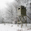 Hunting Tower in Winter — Stock Photo #18879977