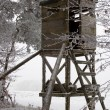 Hunting Tower at Winter — Stock Photo
