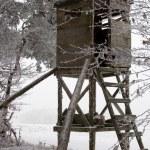 Hunting Tower at Winter — Stock Photo