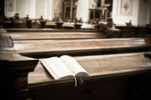 Hymnal in Church — Stock Photo