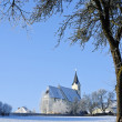 Church in Winter Landscape — 图库照片