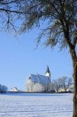 Church in Winter Landscape — Stock Photo