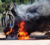 Big Machine on Fire — Stock Photo