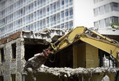 Demolishing a House — Stock Photo