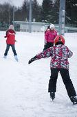 Children does Ice Skating — Stock Photo