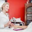 Manicurist at Work — Stock Photo