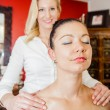 Massage on the Shoulder — Stock Photo