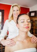 Massage on the Shoulder — Stock Photo