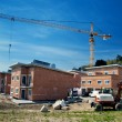 Stock Photo: Row Houses under Construction