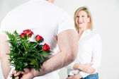 Roses for the Girlfriend — Stock Photo
