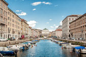 Canal Grande in Trieste — Stock Photo