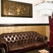 Waiting Room with Leather Couch — Stock Photo