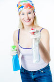Cheerful Housewive — Stock Photo
