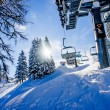 Chairlift in a Ski Resort — Stock Photo
