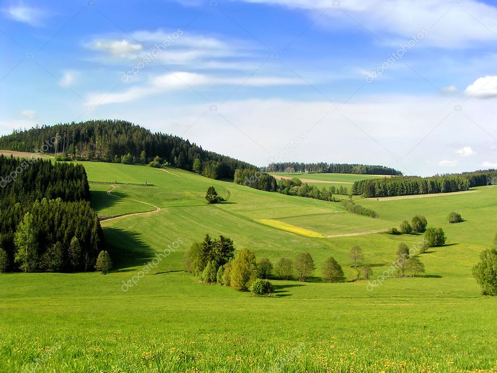 Фотообои Hills of Muehlviertel