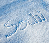 Sochi written in Snow — Stock Photo