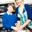 Mother and Son making Cookies — Stock Photo