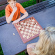 Chess Players from above — Stock Photo