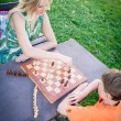 Playing Chess Outdoor — Lizenzfreies Foto