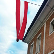 Austrian Flag on a House — Stock Photo