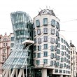Building called Dancing House in Prague — Stockfoto