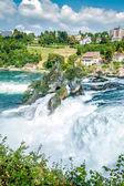Rheinfall, Waterfall of the river Rhein — Stock Photo