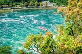Riverboat on the Rheinfall — Stock Photo