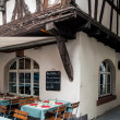 Bistro by a half-timbered house — Stock Photo #38514909