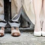 Feet of Wedding Couple — Stock Photo #39114665