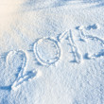 Year 2014 written in Snow — Stock Photo