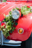 Front of a wedding car — Stock Photo